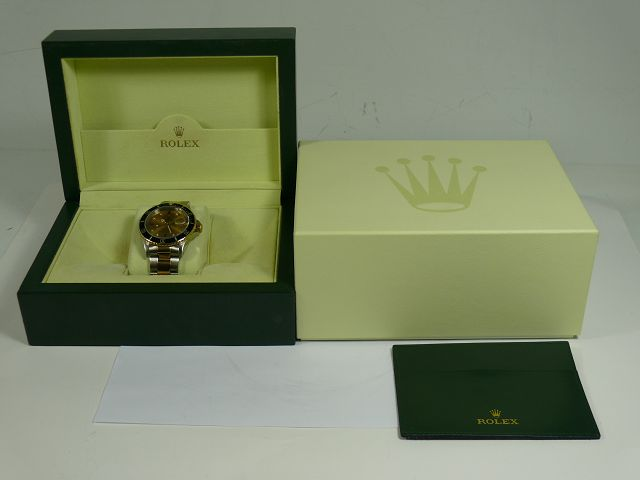 Rolex Submariner 18kt 750 Gold / Edelstahl Automatic Herrenuhr / Ref 16613