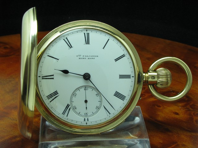George Falconer 18kt 750 Gold Savonette Taschenuhr Minuten Repetition