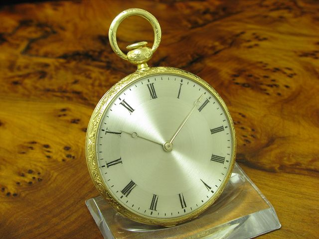 Robert Brandt & Comp 18kt 750 Gold Open Face Taschenuhr Viertel-Repetition
