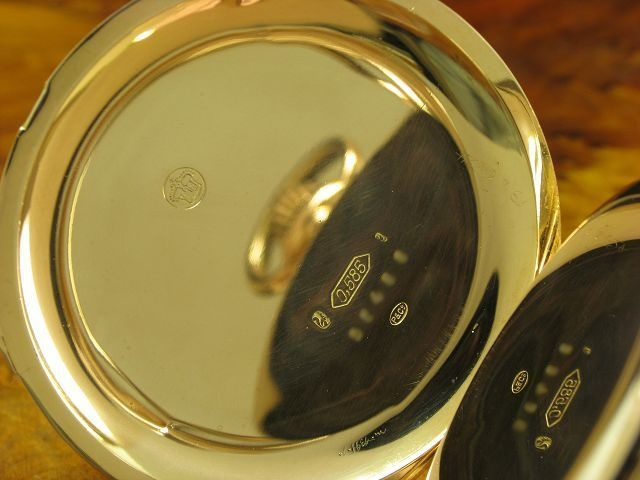 Perrelet & Cie. 14kt 585 Gold Open Face Taschenuhr Minuten Repetition