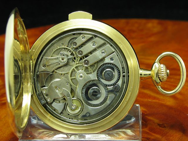 MAISON HELDER TASCHENUHR SAVONETTE 14kt GOLD MINUTEN REPETITION MINUTE REPEATER